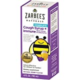 Zarbee's Naturals Children's Complete Daytime Cough Syrup + Immune with Dark Honey & Elderberry, Natural Berry Flavor, 4 Fl. Ounces