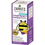 Zarbee's Naturals Children's Complete Daytime Cough Syrup + Immune with Dark Honey & Elderberry, Natural Berry Flavor, 4 Ounce Bottle For Sale