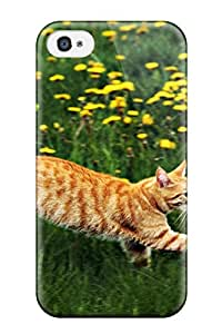 Hot Style IygZosu15291wZKmB Protective Case Cover For Iphone4/4s(running Cat Animal Cat)