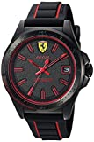 Ferrari Men's 830421 Sport Pilota 3h 42mm Black Dial W. Red Accents Watch
