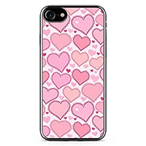Loud Universe iPhone 8 Plus Transparent Edge Case - Valentines Gift Love Heart Pattern