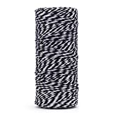 Jmkcoz 300 Feet Arts Crafts Twine Industrial Packing Materials Durable Cotton String Black