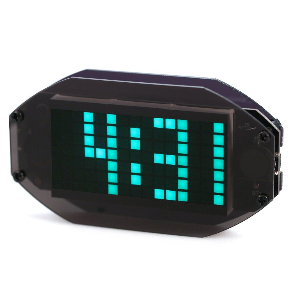 KKmoon DIY Reloj de escritorio LED enrejado con temperatura y con funci髇 de recordatorio de vacaciones y cumplea駉s de color rojo/verde / azul/blanco ...