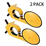 Bestauto 2pcs Wheel Lock Clamp Boot Heavy Duty Wheel Lock Clamp Boot Tire Claw Soft Rubber Car Tire Wheel Lock Anti Theft lock (2pcs Wheel Lock)