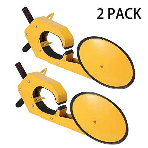 Mophorn 2pcs Wheel Lock Clamp Boot Heavy Duty Wheel Lock Clamp Boot Tire Claw Soft Rubber Car Tire Wheel Lock Anti Theft lock (2pcs Wheel Lock)