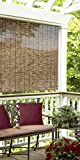 Radiance Cord Free, Roll-up Reed Shade, Natural, 60