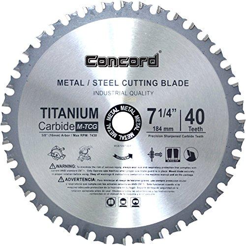 Concord Blades MCB0725T040HP 7-1/4-Inch 40 Teeth TCT Ferrous Metal Cutting Blade
