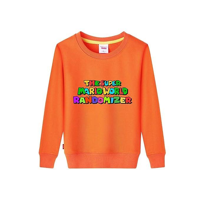 Haililais Super Mario Sudaderas Cuello Redondo Sueter de Manga Larga Camisetas Estampados Abrigos Hipster Chaquetas para Niño y Niña: Amazon.es: Ropa y ...