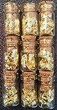 9 Bottles of Real Gold Leaf.Real Gold. Lowest price online !!