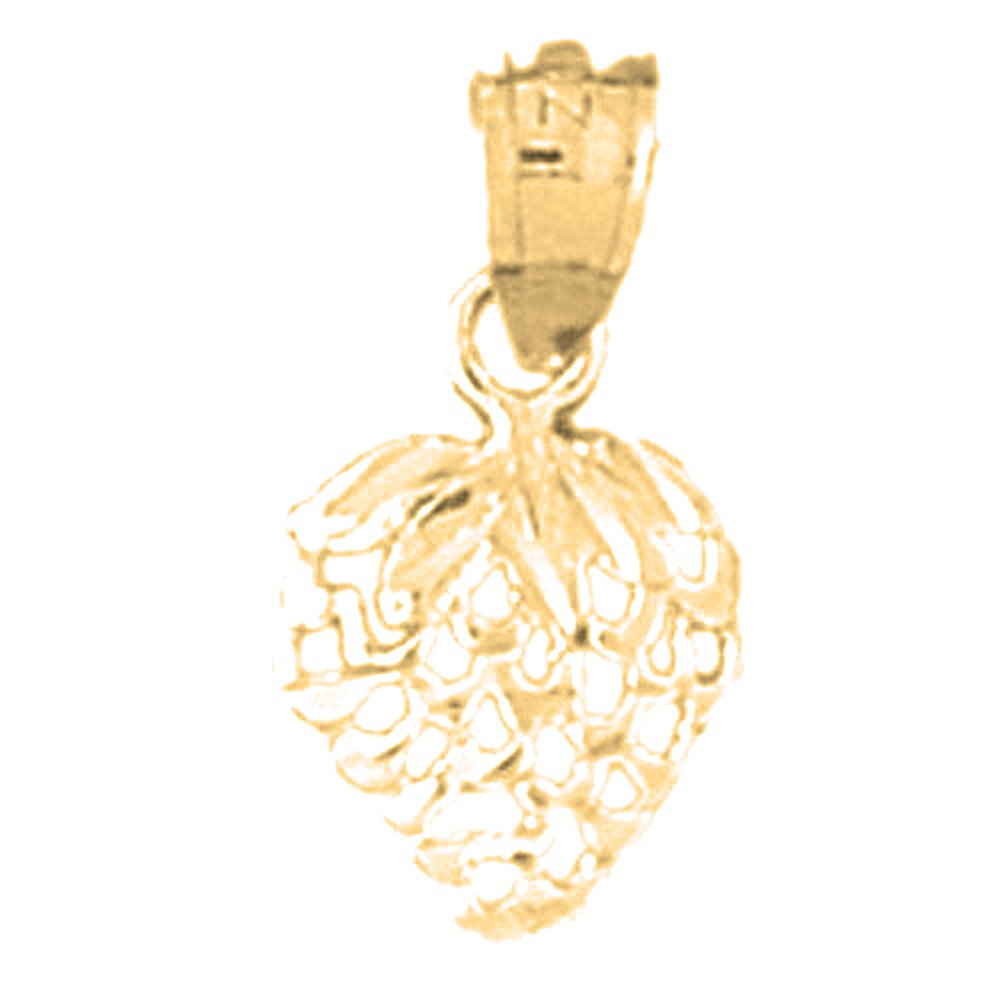 14K Yellow Gold-plated 925 Silver Strawberry Pendant with 18 Necklace Jewels Obsession Strawberry Necklace