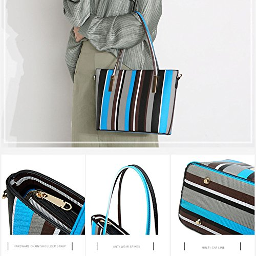 Stripe Leather Wallet Hobo Handle DCRYWRX Handbags C Bag Lady PU Handbag Bag Top Shoulder Satchel YTfd0q