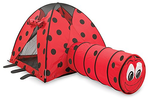 Pacific Play Tents Kids Lady Bug Dome Tent and Crawl Tunnel Combo for Indoor / Outdoor (Tent Combo Toy)