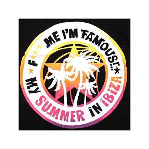 F*** Me I'm Famous: Camiseta de Tirantes Palmera Negro