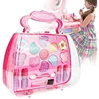 ETbotu Kids Girl Makeup Set Eco-friendly Cosmetic Pretend Play Kit Princess Toy Gift