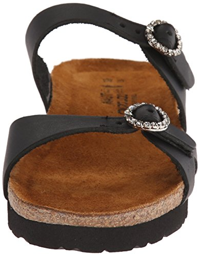 Kate Leather Sandal Black Wedge Women's Naot Matte pHqx54HY