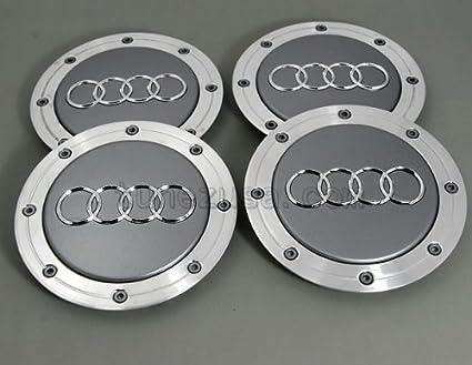 Tapacubos para Audi A3 A4 A6 A8 RS3 Quattro 4B0601165 A: Amazon.es: Coche y moto
