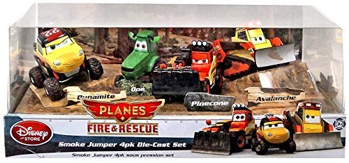Disney PLANES: Fire & Rescue Exclusive 1:55 Deluxe Die Cast 4-Pack Smoke Jumper [Dynamite, Doe, Pinecone & Avalanche] (Smoke Jumper Die Cast compare prices)