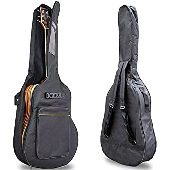 40 41 padded acoustic guitar bag soft case double strap backpack portable book. Black Bedroom Furniture Sets. Home Design Ideas