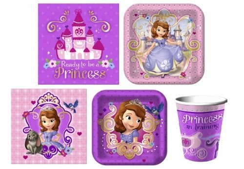 BirthdayExpress Sofia The First Junior Princess Party Pack for 16 -