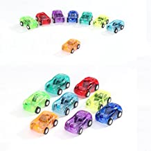 Mini Pull Back Racing Car toys, Funny Transparent Vehicles, Party favor Raced on Floor or Table Toy for Party For Kids and Adults Fun Gift with Multicolor, 5 PCS