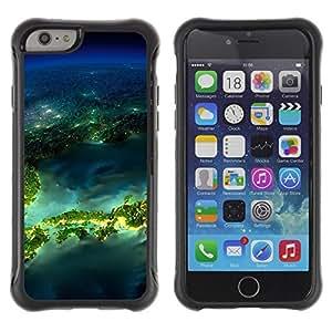 "Pulsar iFace Series Tpu silicona Carcasa Funda Case para Apple (4.7 inches!!!) iPhone 6 , Isla Planet Space Tierra"""