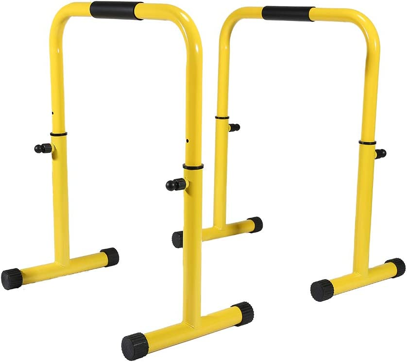 SHINYEVER Multifunctional Dip Stand Station - Dip Bars Fitness for Home, Dip Bar Station with Safety Connector for Tricep Dips, Home Gym Equipment
