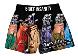 Bury Me Next to My Golf Bag Silky Boxer Shorts Gifts for Men Golfers
