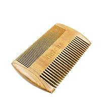Garcoo Green Sandalwood Pocket Beard Comb | Anti-Static Natural Aroma | Handmade Premium Comb for Beard & Moustache Grooming | Fine and Coarse Tooth Pocket Size Hair - Beard Brush