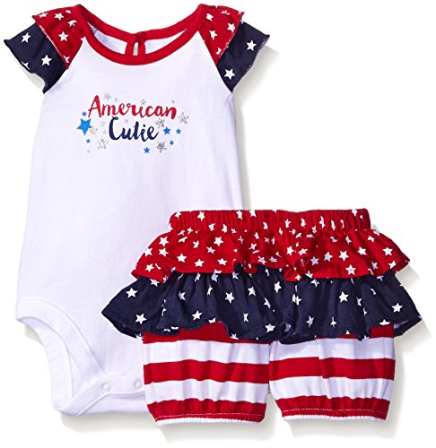 The Children's Place Baby America 2 Piece Set, White, 12-18 Months (America Girls Clothes compare prices)