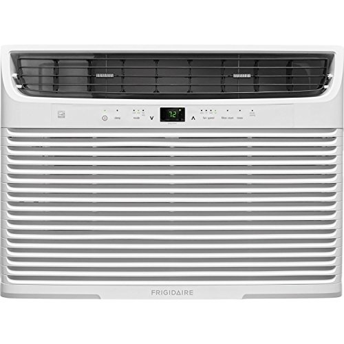 Frigidaire 15,100 Btu 115V Window-Mounted Median Air Conditioner with Temperature Sensing Remote Control, White by Frigidaire