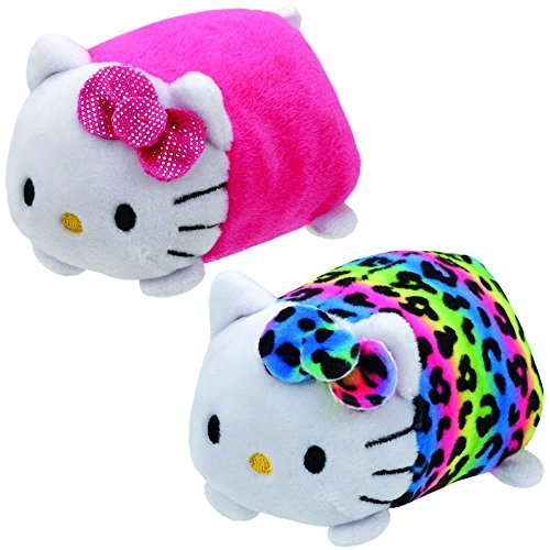 TY Beanie Boos - Teeny Tys Stackable Plush - Hello Kitty - SET OF 2 (Pink & -
