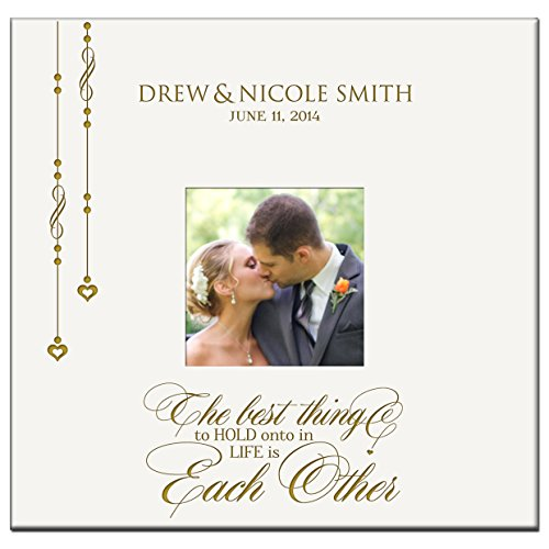 Personalized Mr & Mrs Wedding Anniversary Gifts Photo Album Custom Engraved the Best Thing to Hold Onto in (Engraved Wedding Photo Album)