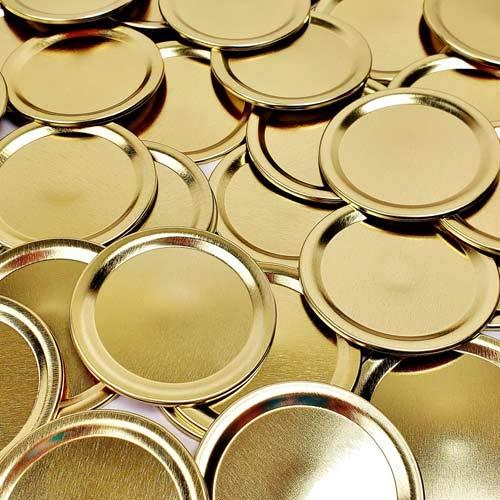 Bulk Widemouth Gold Canning Flat Lids, 288/pkg.