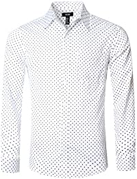"<span class=""a-offscreen"">[Sponsored]</span>Men's Casual Cotton Polka Dots Long Sleeve Dress Shirts"