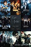 "Harry Potter 1 - 7 - Movie Poster (9 Poster Image Collage / Checklist) (Size: 24"" x 36"") (By POSTER STOP ONLINE)"