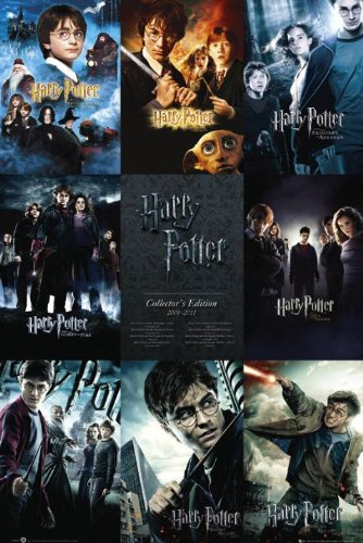 Harry Potter 1 - 7 - Movie Poster (9 Poster Image Collage / Checklist)