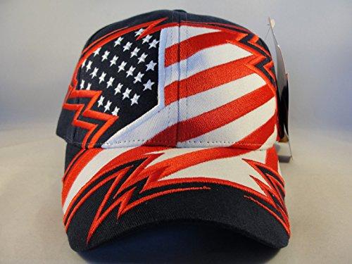 Salt Lake 2002 Olympics USA Flag Vintage Velcro Strap Hat American Needle by American Needle