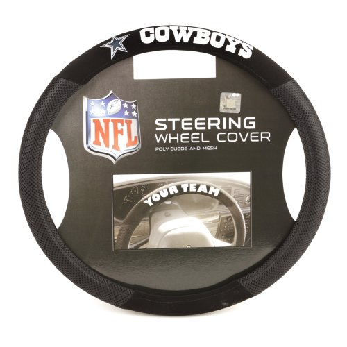 (Fremont Die NFL Dallas Cowboys Poly-Suede Steering Wheel Cover)