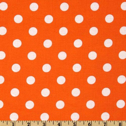 Santee Print Works Happy Halloween Polka Dots Orange/White Fabric Fabric by the Yard