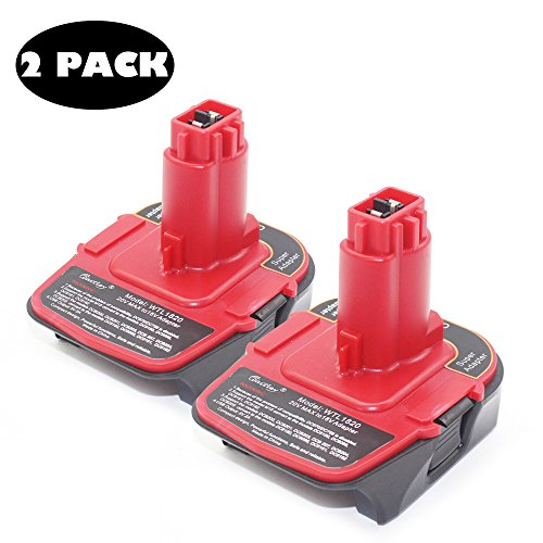 2PACK AOYAN - Battery Adapter 18V - 20V add USB Power bank function Converted DCB606 DCB200 M18 into DeWALT DC9096 DC9180. by Aoyan