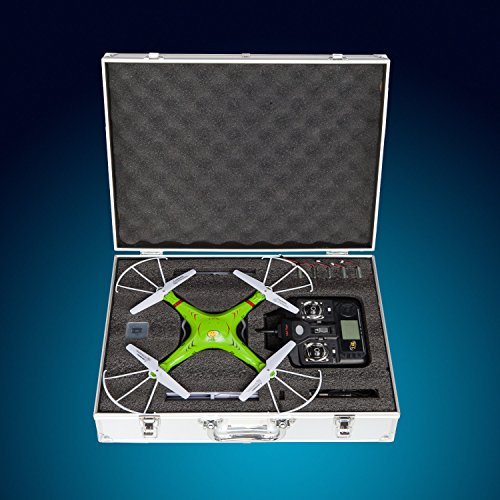 X5C Durable Aluminum Drone Case for Syma X5, X5C and X5C-1 Quadcopter Models | with Protective Foam Inserts and Precision Cutouts to Guard Individual Components Against Impact by USA Toyz