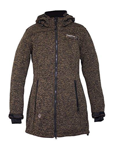 Forro Cappucino Jacket Mujer Active Deproc strickoptik Lady Long Polar Elkford Abrigo De RxgnFqt
