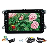 Quad-core GPS VW Car Stereo Eincar Universal 8inch Double din Car DVD Player Android4.4 system GPS Navigation Radio Stereo Bluetooth FM Receiver Car GPS Autoradio Support Wifi 3G Hotspot 3D GPS Map Headunit +Free Camera Canbus Offered