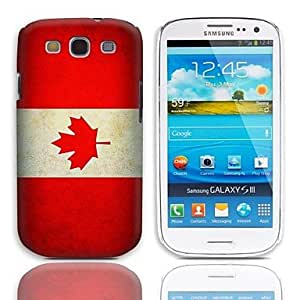 GDW Vintage La bandera de Canadá Caso duro del diseño con el paquete de 3 protectores de pantalla para Samsung Galaxy S3 I9300