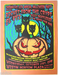 Rocket From the Crypt - Original 2001 Halloween Concert Poster S/N Lindsey Kuhn for $<!--$75.00-->