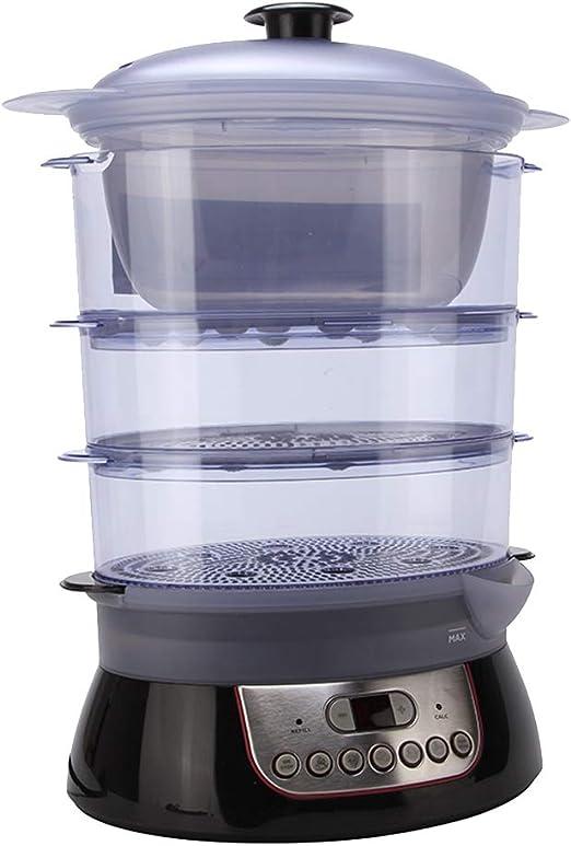 Olla a vapor eléctrica de 3 niveles, cocina de vapor multifunción ...