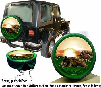 Funda para rueda de repuesto protectora Wild Diseño Keiler Treibjagd Caza-Fans para su Jeep: Amazon.es: Coche y moto