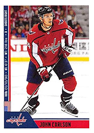 2018-19 Panini NHL Stickers  257 John Carlson Washington Capitals Hockey  Card 123cf1bcb0c