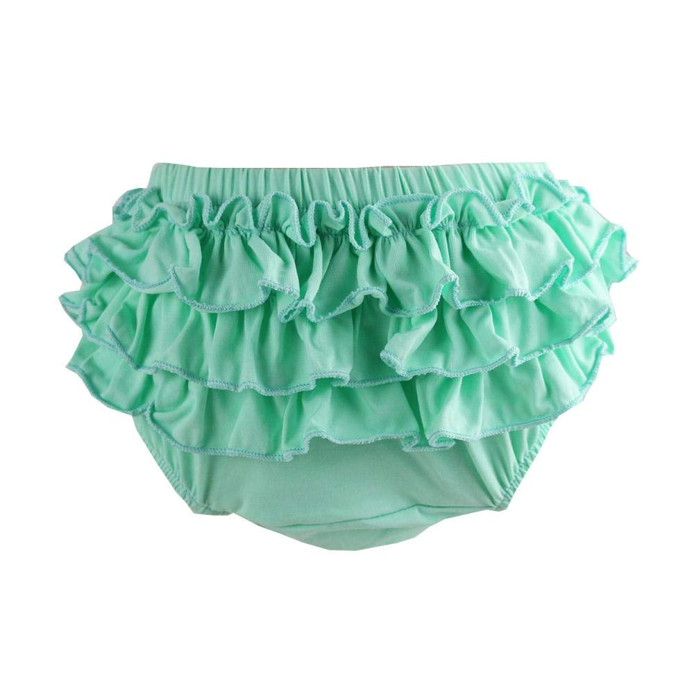 Wennikids Baby Girls Soft Shorts Cotton Ruffle Diaper Cover Bloomers