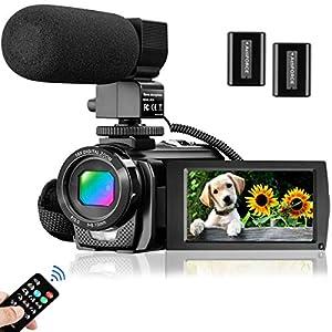 Flashandfocus.com 51CYv89EkUL._SS300_ Video Camera Camcorder for YouTube, Aasonida Digital Vlogging Camera FHD 1080P 30FPS 24MP 3.0 Inch 270° Rotation Screen…